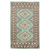 Handmade Herat Oriental Pakistani Bokhara Wool Rug - 2'1 x 3'5 (Pakistan)
