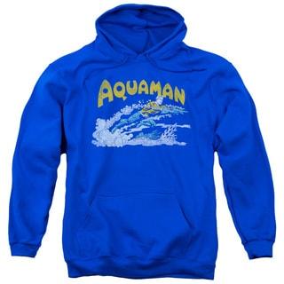 DC/Aqua Swim Adult Pull-Over Hoodie in Royal Blue