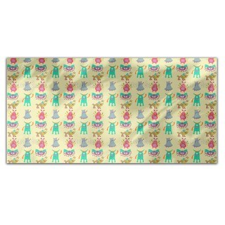 Funny Monsters Rectangle Tablecloth