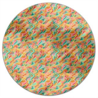 Sweet Ocean Of Flames Round Tablecloth