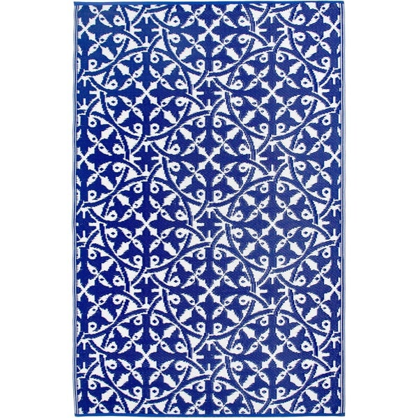 Handmade San Juan Dark Blue Rug - 3' x 5' (India)