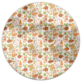 Mellifluous Bees Round Tablecloth