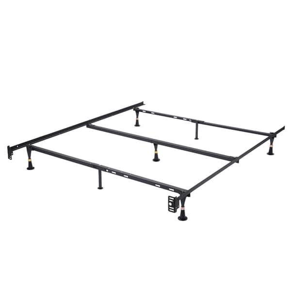Shop K&B Furniture Co. B9005 Black Metal Queen Adjustable Bed Frame ...