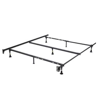 K&B Furniture Co. B9005 Black Metal Queen Adjustable Bed Frame