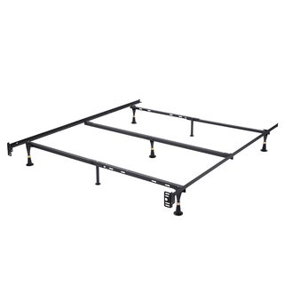 K&B Furniture Co. B9005 Black Metal Queen Adjustable Bed Frame