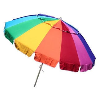 Multi-colored Fiberglass 8-foot Wide Giant Beach Umbrella