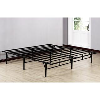 kb black metal 80 inch x 76 inch x 14 inch king size platform bed frame