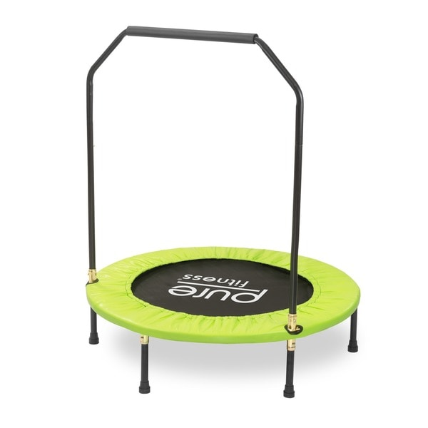Pure Fitness 40-inch Mini Trampoline with Handrail