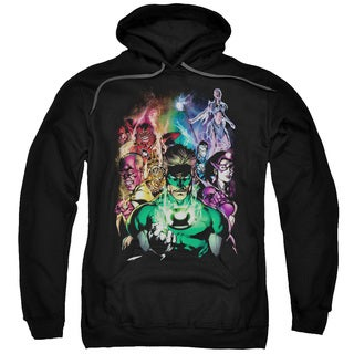 Green Lantern/The New Guardians Adult Pull-Over Hoodie in Black