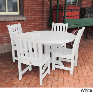 Highwood Eco-friendly Synthetic Wood Lehigh 5-piece Round Dining Set