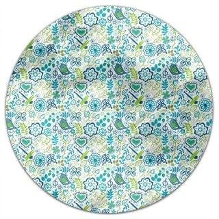 Awakening In Spring Gardens Round Tablecloth