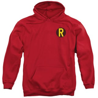 DC/Robin Logo Adult Pull-Over Hoodie in Red