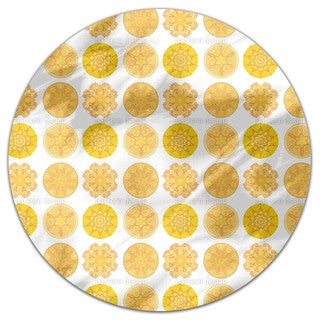 Sun Of The East Round Tablecloth