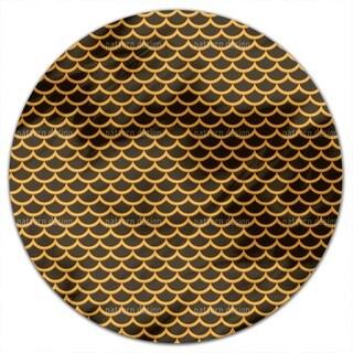 The Sequin Samurai Round Tablecloth