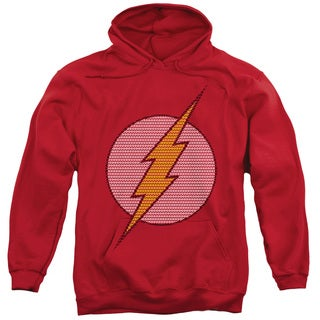 DC/Flash Little Logos Adult Pull-Over Hoodie in Red