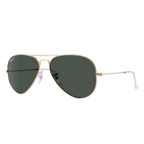Ray-Ban RB3025 001 58 Aivator Classic Gold Frame Polarized Green 55mm Lens  Sunglasses 21acd239f9df