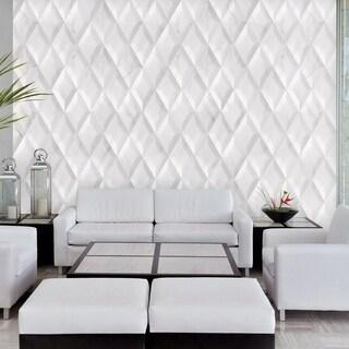 SomerTile 6.75x11.75-inch Aratiba Bevel Grey Ceramic Wall Tile (12 tiles/3.48 sqft.)