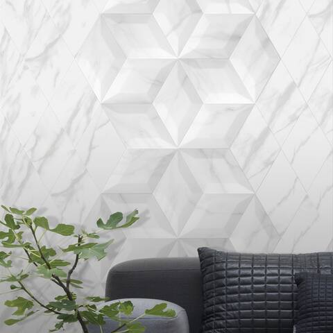 SomerTile 6.75x11.75-inch Aratiba Flat Grey Ceramic Wall Tile (22 tiles/6.55 sqft.)