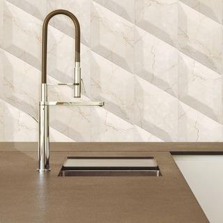 SomerTile 6.75x11.75-inch Aratiba Bevel Beige Ceramic Wall Tile (Case of 12)