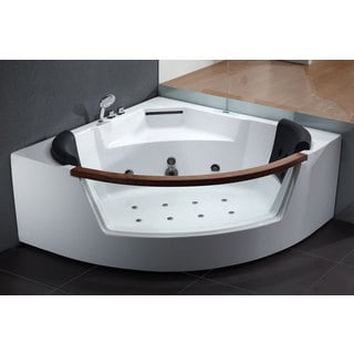 EAGO AM197 White Acrylic 5-foot Whirlpool Bath Tub