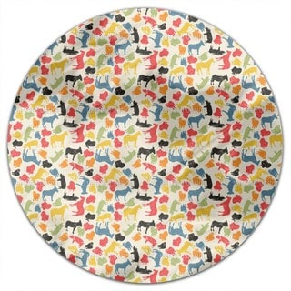 Animals On Our Farm Round Tablecloth