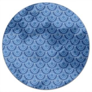 Poseidons Shields Round Tablecloth
