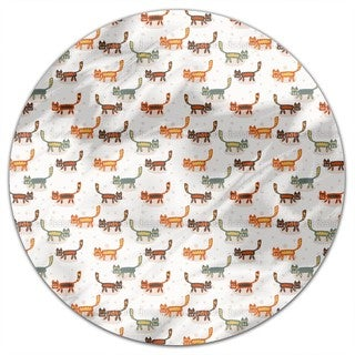 Pussycats Round Tablecloth