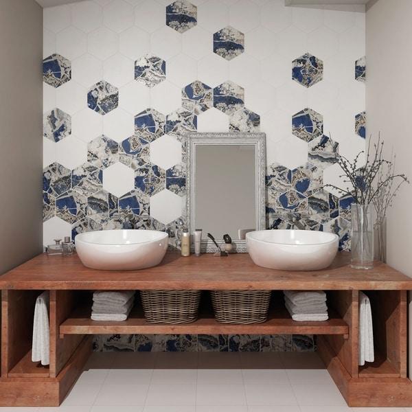 Shop Somertile 8 625x9 875 Inch Agatha Hex Porcelain Floor