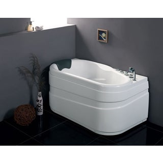 EAGO AM175-R White Acrylic 5-foot Whirlpool Bathtub