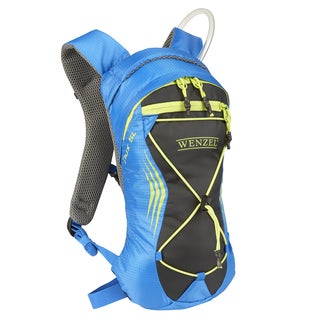 Wenzel Unisex Flux 2-liter Resevoir Blue and Yellow Polyester Water-resistant Hydration Backpack
