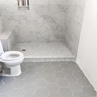 SomerTile 8.625x9.875-inch Textilis Silver Hex Porcelain Floor and Wall Tile (25 tiles/11.19 sqft.)