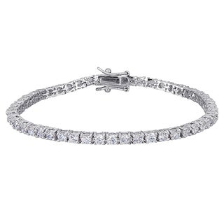 Rhodium-plated CZ Tennis Bracelet
