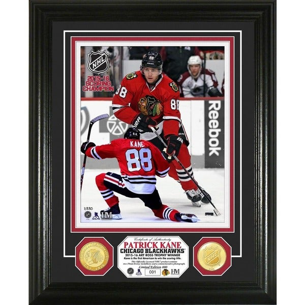 Patrick Kane '2016 NHL Scoring Champions' Bronze Coin Photo Mint
