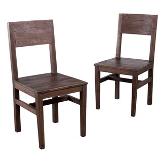 Organic Modern Smoky Teak Dining Chair (India)