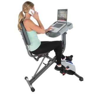 Exerpeutic WORKFIT 1000 Fully Adjustable Desk Folding Exercise Bike with Pulse|https://ak1.ostkcdn.com/images/products/11863830/P18763442.jpg?impolicy=medium