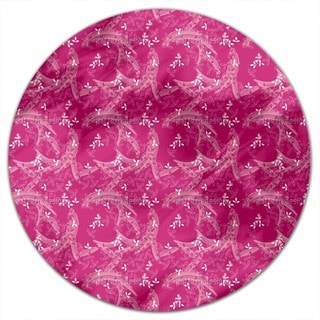 Bush Clover Asia Pink Round Tablecloth