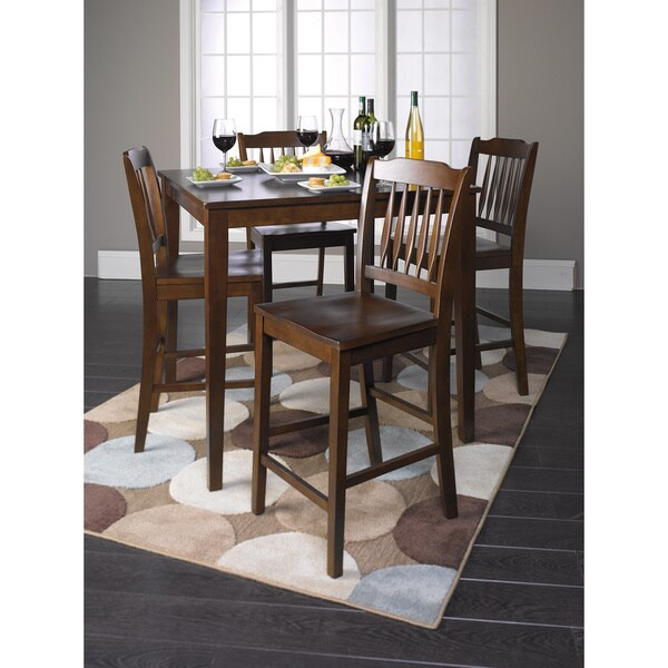 Whitley Cappuccino 5 Piece Dinette Set: Shop Cappuccino Finish Wood Counter Height 5-piece Dining