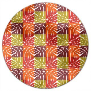 Monstera Color Round Tablecloth