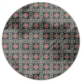 Mister Grey Round Tablecloth