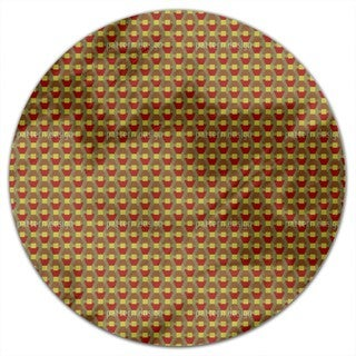 Autumn Of Trapeze Round Tablecloth