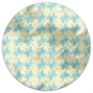 Rounded Stars Round Tablecloth