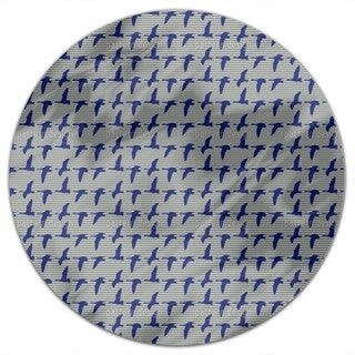Goose Blue Round Tablecloth