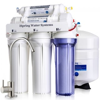iSpring RCC7 5-stage Residential WQA Gold Seal Certified, 75 GPD Under-sink Reverse Osmosis Water Filter System