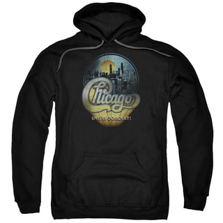 Chicago/Live Adult Pull-Over Hoodie in Black