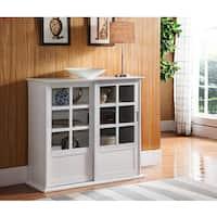 Maison Rouge Brennan K&B Wood Curio Table (White)