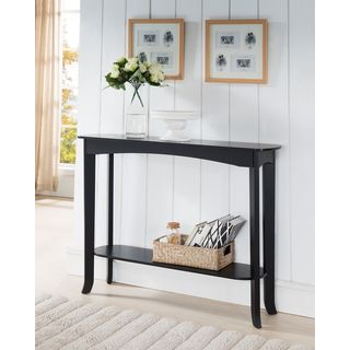 K&B C1282 Espresso Finish Wood Veneer Console Table
