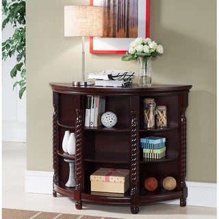 K & B Furniture Co Cherry Wood and Veneer Console Table
