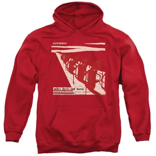 Miles Davis/Davis and Horn Adult Pull-Over Hoodie in Red