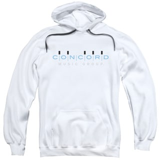 Concord Music/Concord Logo Adult Pull-Over Hoodie in White
