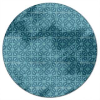 Stella Blue Round Tablecloth